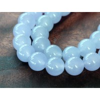 Periwinkle Blue Semi-Transparent Jade Beads, 8mm Round