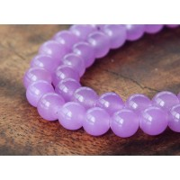 Orchid Semi-Transparent Jade Beads, 6mm Round