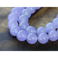Violet Semi-Transparent Jade Beads, 10mm Round