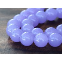 Violet Semi-Transparent Jade Beads, 12mm Round