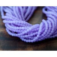 Violet Semi-Transparent Jade Beads, 4mm Round