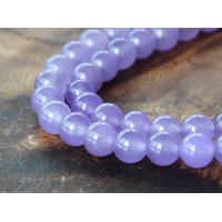 Violet Semi-Transparent Jade Beads, 6mm Round