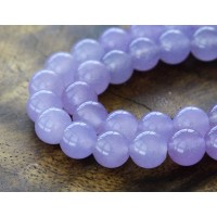 Violet Semi-Transparent Jade Beads, 8mm Round