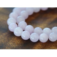 Pale Purple Semi-Transparent Jade Beads, 8mm Round