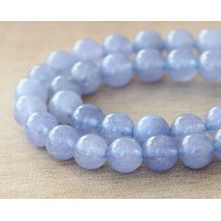 Powder Purple Semi-Transparent Jade Beads, 8mm Round