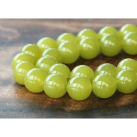 Mustard Semi-Transparent Jade Beads, 12mm Round