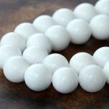 White Mountain Jade Beads, 10mm Round
