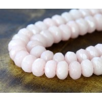 Pastel Pink Candy Jade Beads, 8x5mm Faceted Rondelle