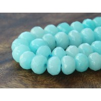 Aqua Candy Jade Beads, 8x5mm Faceted Rondelle