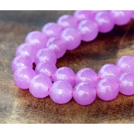 Orchid Candy Jade Beads, 6mm Faceted Round