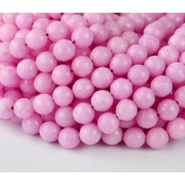 Baby Pink Candy Jade Beads, 8mm Faceted Round