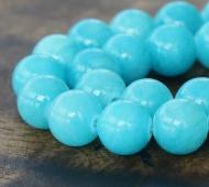 Light Blue Mountain Jade Beads, 12mm Round