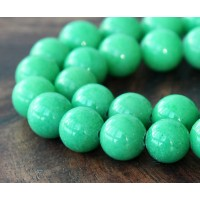 Pastel Green Mountain Jade Beads, 12mm Round