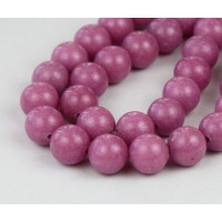Medium Mauve Mountain Jade Beads, 10mm Round