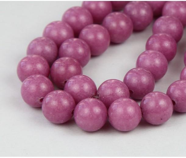 Medium Mauve Mountain Jade Beads, 10mm Round