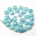 Pale Blue Candy Jade Beads, 13mm Faceted Drop, Pack of 4 Beads