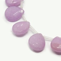Thistle Candy Jade Beads, 15x12mm Faceted Drop, Pack of 4 Beads