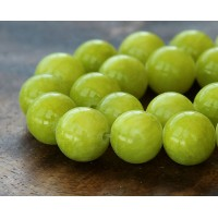 Chartreuse Mountain Jade Beads, 12mm Round