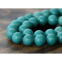 Cadet Blue Mountain Jade Beads, 10mm Round