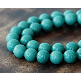Cadet Blue Mountain Jade Beads, 8mm Round