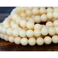 Cream Mountain Jade Beads, 6mm Round
