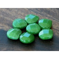 Forest Green Candy Jade Beads, 13mm Faceted Drop