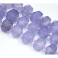 Light Purple Candy Jade Beads, Chunky Faceted Nugget