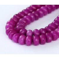 Orchid Candy Jade Beads, 8x5mm Faceted Rondelle