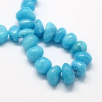 Sky Blue Candy Jade Beads, Medium Nugget