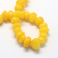 Sun Yellow Candy Jade Beads, Medium Nugget
