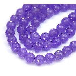 Violet Candy Jade Beads, 8mm Faceted Round
