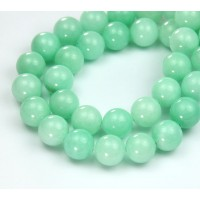 Mint Green Mountain Jade Beads, 10mm Round