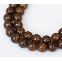 Fawn Brown Mountain Jade Beads, 8mm Round
