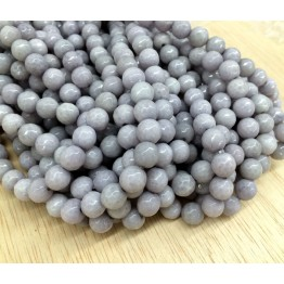 Mouse Grey Candy Jade Beads, 8mm Faceted Round