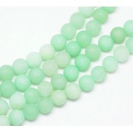 Mint Green Matte Jade Beads, 8mm Round