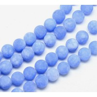 Light Periwinkle Blue Matte Jade Beads, 8mm Round