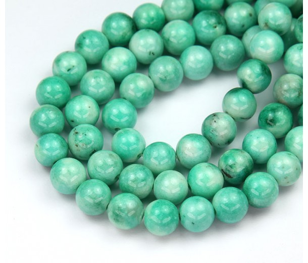 Cold Green Mix Multicolor Jade Beads, 8mm Round