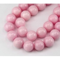 Pastel Pink Mountain Jade Beads, 12mm Round