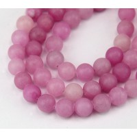 Mauve Pink Mountain Jade Beads, 8mm Round