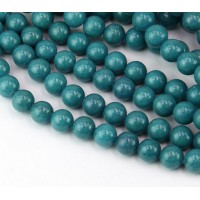 Bermuda Blue Mountain Jade Beads, 8mm Round