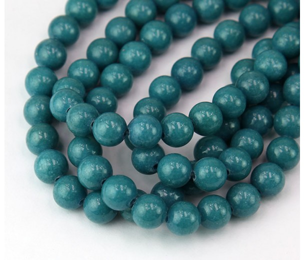 Bermuda Blue Mountain Jade Beads, 8mm Round