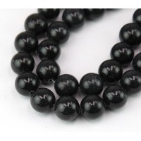 Anthracite Mountain Jade Beads, 12mm Round