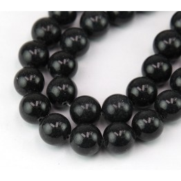 Anthracite Mountain Jade Beads, 12mm Round