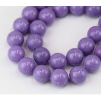 Lavender Mountain Jade Beads, 12mm Round