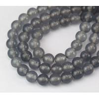 Grey Mist Semi-Transparent Jade Beads, 8mm Round