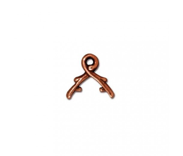 6mm Vine Briolette Bail by TierraCast, Antique Copper, Pack of 2