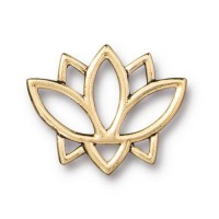 19mm Open Lotus Flower Link by TierraCast, Antique Gold