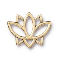 19mm Open Lotus Flower Link by TierraCast, Antique Gold