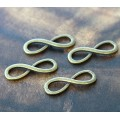 10x30mm Infinity Links, Antique Brass