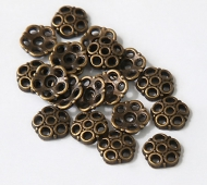 8mm Circles Bead Caps, Antique Brass